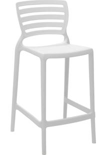 Cadeira Alta Tramontina 92127010 Sofia Monobloco Encosto Vazado Branco
