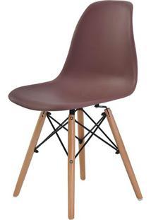 Cadeira Eames Eiffel Polipropileno Cafe Base Madeira - 44159 - Sun House
