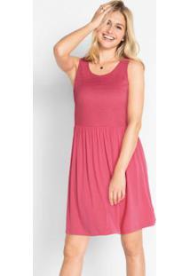 Vestido Sem Mangas Com Renda Rosa