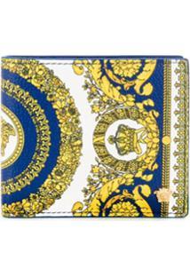 Versace Carteira Com Estampa Barroca - Azul