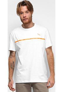 Camiseta Lost Dont Do It Stripe Masculina - Masculino-Branco