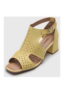 Sandália Dakota Laser Cut Amarela