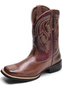 Bota Country Bico Quadrado Top Franca Shoes Castor