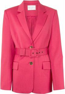 Rebecca Vallance Blazer Com Cinto - Rosa