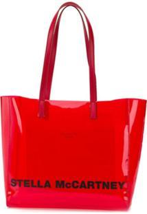 Stella Mccartney Bolsa Tote Pequena Com Estampa De Logo - Vermelho