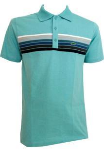 Camisa Pau A Pique Polo - Feminino-Azul