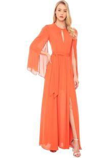 Vestido Longo Crepe Marusi