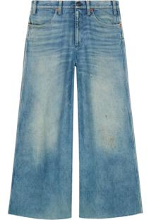 Gucci Calça Jeans Com Patches - Azul