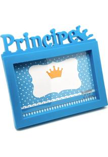 Porta Retrato Príncipe 15Cm X 10Cm - Azul