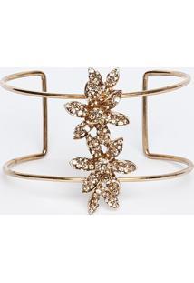 Bracelete Com Strass- Dourado- 7Xø15Cmgregory