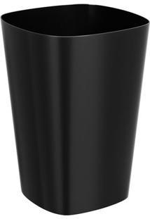 Lixeira Lisa- Preta- 18,5X15X8Cm- 5L- Cozacoza