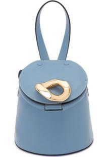 Jw Anderson Bolsa Bucket Com Alça De Mão - Azul