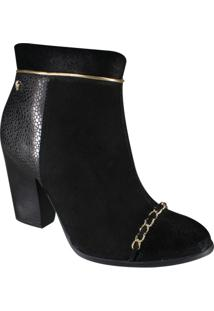 Bota Cravo E Canela Ankle Boot