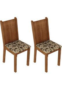 Kit 2 Cadeiras 4290 Madesa - Rustic/Bege Marrom Marrom