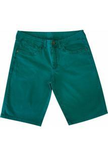 Bermuda Pau A Pique Color - Masculino-Verde