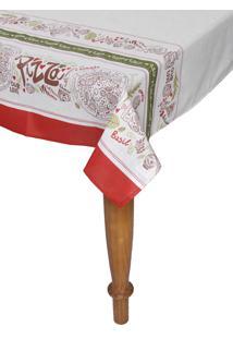 Toalha De Mesa Karsten Dia A Dia Margherita Retangular Branca