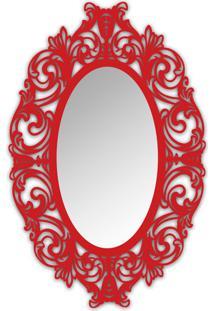 Espelho De Parede 12875V Vermelho 70X110 Art Shop