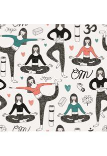 Papel De Parede Adesivo Yoga (0,58M X 2,50M)
