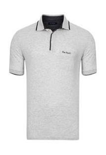 Camisa Polo Com Bolso Fame Masculina - Masculino-Cinza