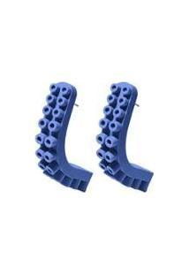 Brinco Flex Jewel Argola Octopus Feminino - Feminino-Azul Claro