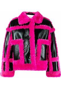 Stand Studio Faux-Fur Panel Jacket - Rosa