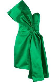 Paule Ka Vestido Com Laço De Cetim - Verde