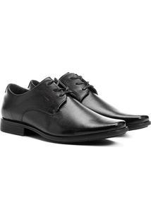 Sapato Social Couro Ferracini Brangança - Masculino-Preto