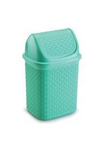 Lixeira Para Cozinha De Plástico Com Basculante 4,5 L Verde