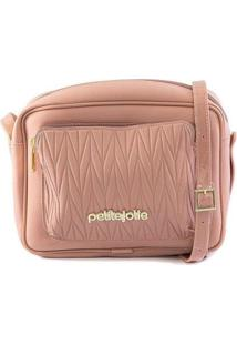 Bolsa Petite Jolie Crossbody Cassy Texturizada Verão Feminina - Feminino-Rosê