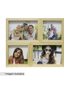 Painel Para 4 Fotos- Incolor & Marrom Claro- 24X29Cmkapos