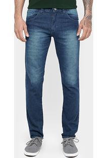 Calça Jeans Preston Indigo Estonada - Masculino