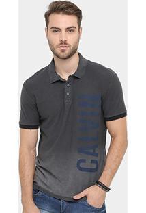 Camisa Polo Calvin Klein Flamê Tinturada Degradê - Masculino