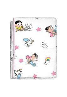 Edredom Bebê Feminino Mônica E Magali Baby Branco E Rosa (85X130Cm) - Turma Da Mônica - Tamanho Único - Branco,Rosa