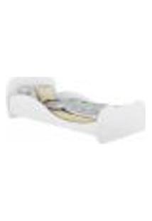 Cama Solteiro Com Colchão Incluso 88 X 188 Cm 100% Mdf Safira Multimóveis Branca