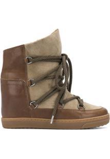 Isabel Marant Ankle Boot Com Cardaço - Marrom