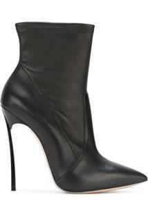Casadei Ankle Boot De Couro 'Blade' - Preto