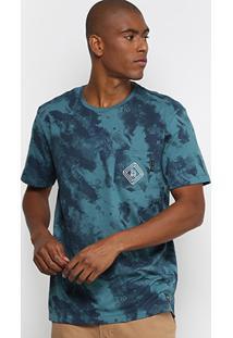 Camiseta Especial Globe Tie Dye Full Print Masculina - Masculino