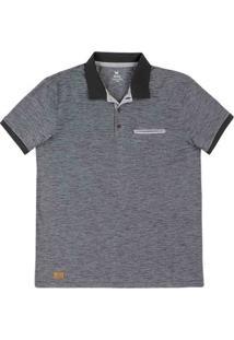 Camisa Polo Masculina Regular Em Malha De Algodão Com Bolso