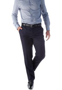 Calça 6189 Social Marinho Traymon Modelagem Regular