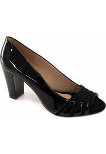 af4e061b56 ... Peep Toe Verniz Numeração Especial Sapato Show E - Feminino-Preto