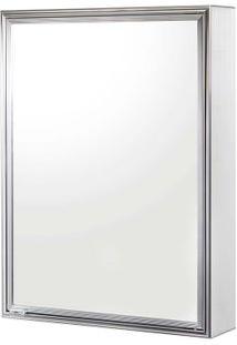 Espelheira De Sobrepor Cristal 1105-3 44X58,5Cm Branco Cris-Metal