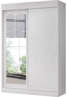 Guarda Roupa Bolt C/ Espelhos 2 Portas De Correr Branco Fosco Liso Albatroz
