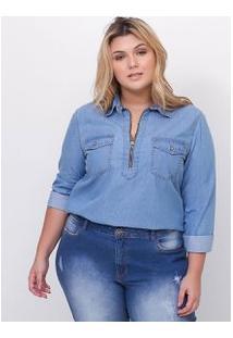 Camisa Jeans Curve & Plus Size