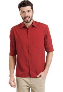 Camisa Di Sotti Microfibra Vinho - Masculino