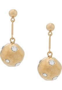 Colville Embellished Sphere Earrings - Dourado