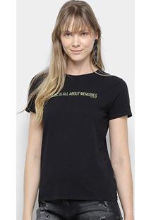 Camiseta Calvin Klein Music Memories Feminina - Feminino-Preto