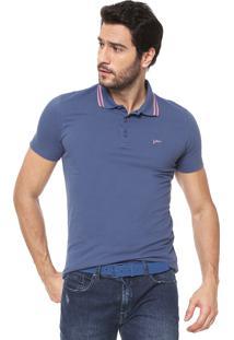 Camisa Pólo Azul Yachtsman masculina  7716ff0e10607