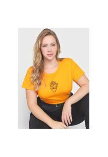 Camiseta Colcci Coração Laranja