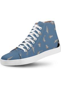 6536e46e33 Dafiti. Calçado Tênis Feminino Azul Conforto Casual Clássico Eva Algodão  Látex Vegano Usthemp Golfinho Estampa Long
