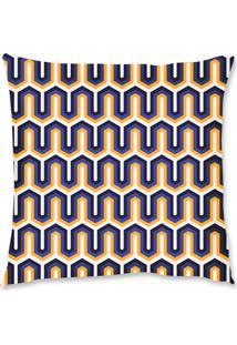 Capa De Almofada Renata Sader Palaio Roxo E Amarelo 45X45Cm